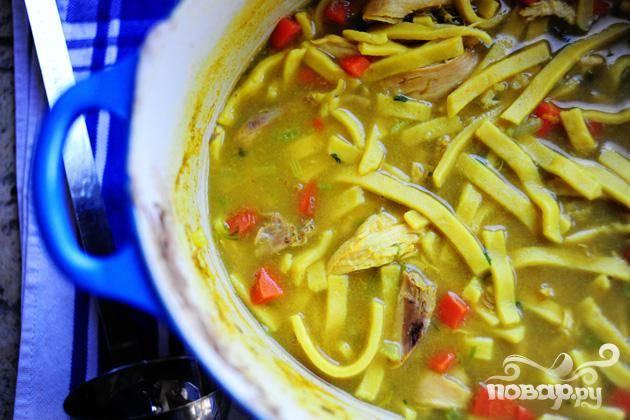 Куриный суп с лапшой простой рецепт