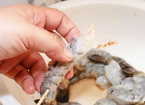 Креветки на гриле - пошаговый рецепт