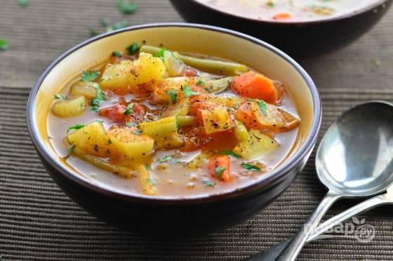Вкусный овощной суп