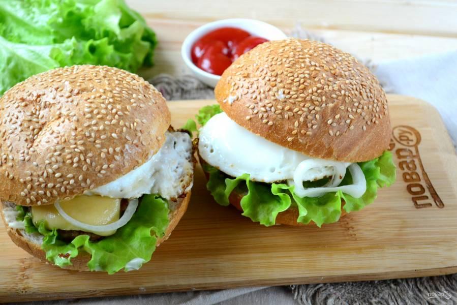 Завтрак в чизбургере