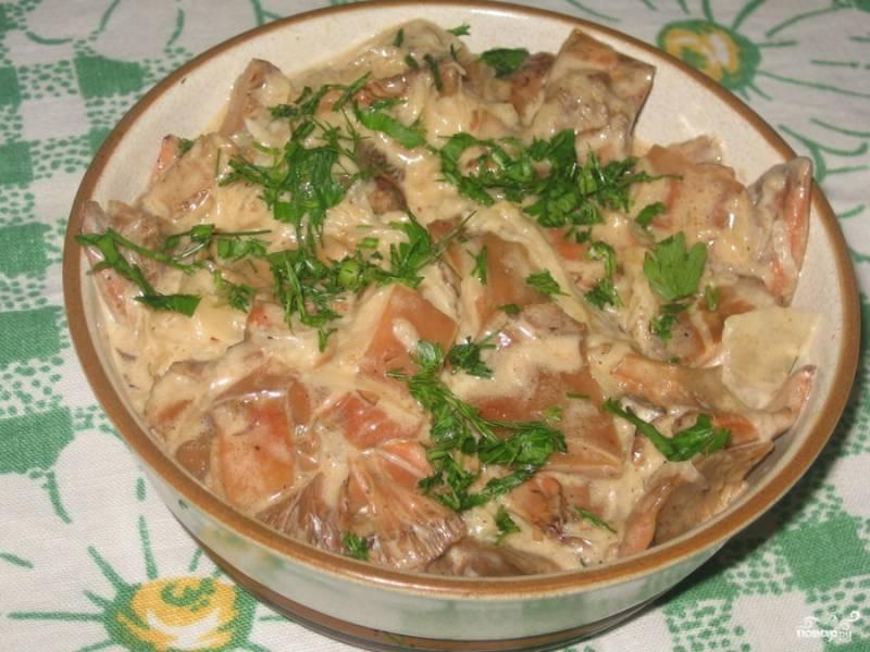7.Перед подачей на стол украшаем блюдо зеленью. Приятного Вам аппетита!