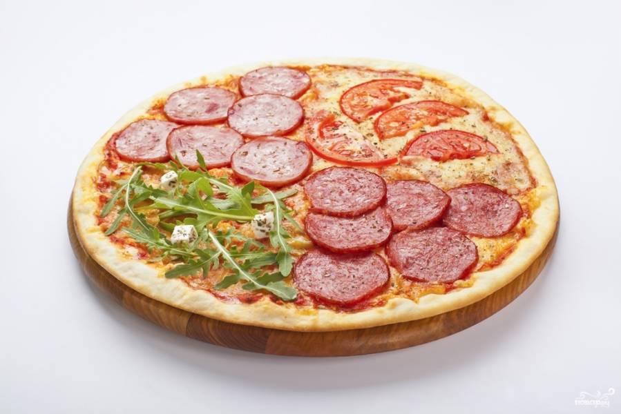 Как делать пиццу с колбасой в домашних условиях