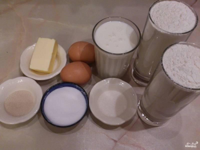 Дрожжевое тесто на кефире для булочек - пошаговый рецепт