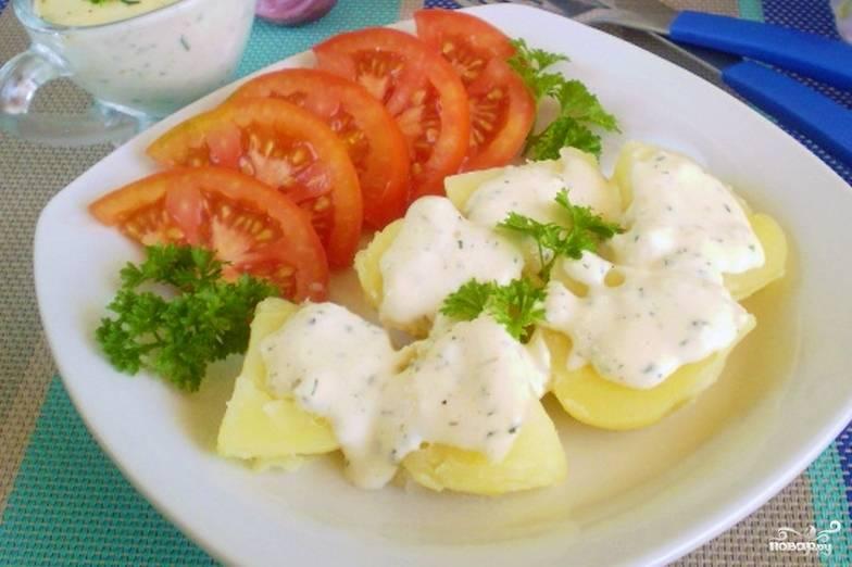 картофель в молочном соусе с сыром Тиида