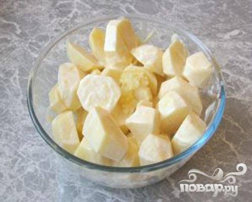 Курица с картофелем, запеченная в - рукаве - пошаговый рецепт с фото на