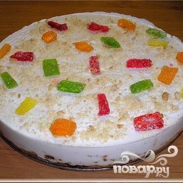 Торт-мороженое зефирное лакомство - пошаговый рецепт с фото на