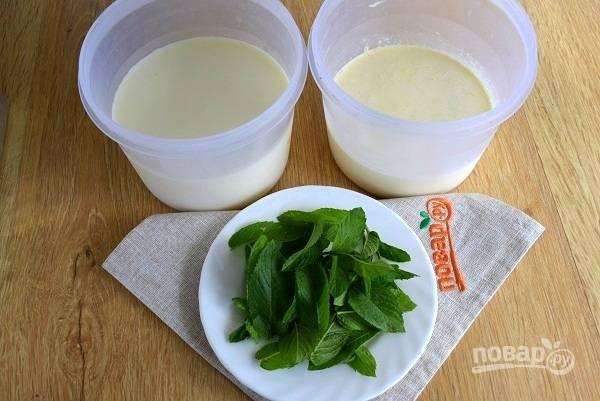 Мятное мороженое - пошаговый рецепт с фото на
