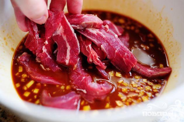 Говядина с горошком - пошаговый рецепт