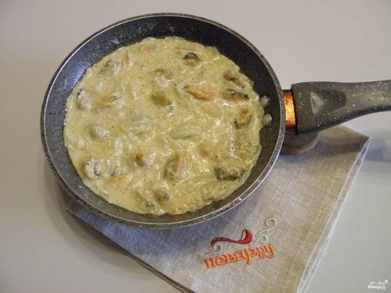 Паста с мидиями в сливочном соусе - пошаговый рецепт
