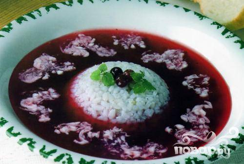 Черничный суп