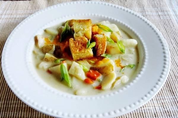 Картофельный суп на молоке