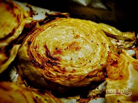 Запеченная капуста в духовке - пошаговый рецепт с фото на