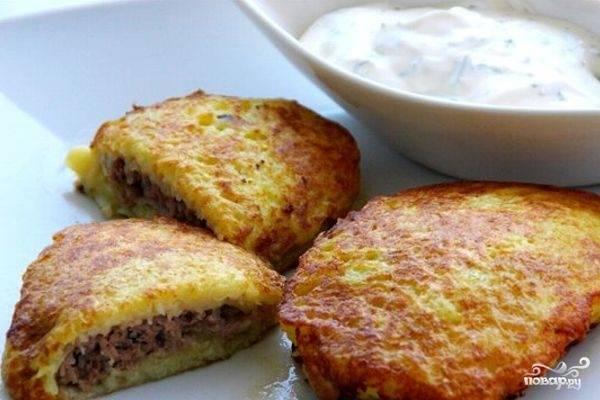 Драники картофельные с фаршем - пошаговый рецепт