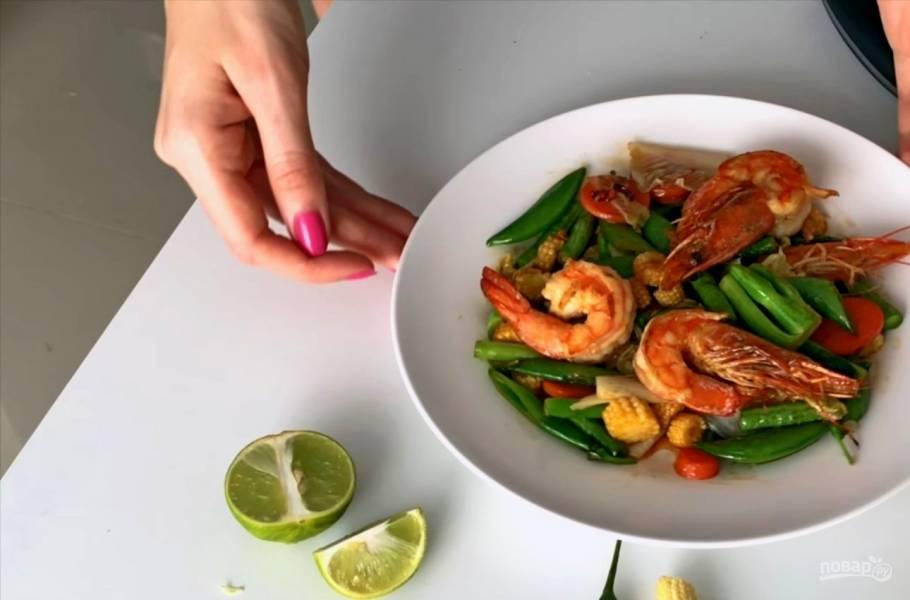 Горячий тайский салат