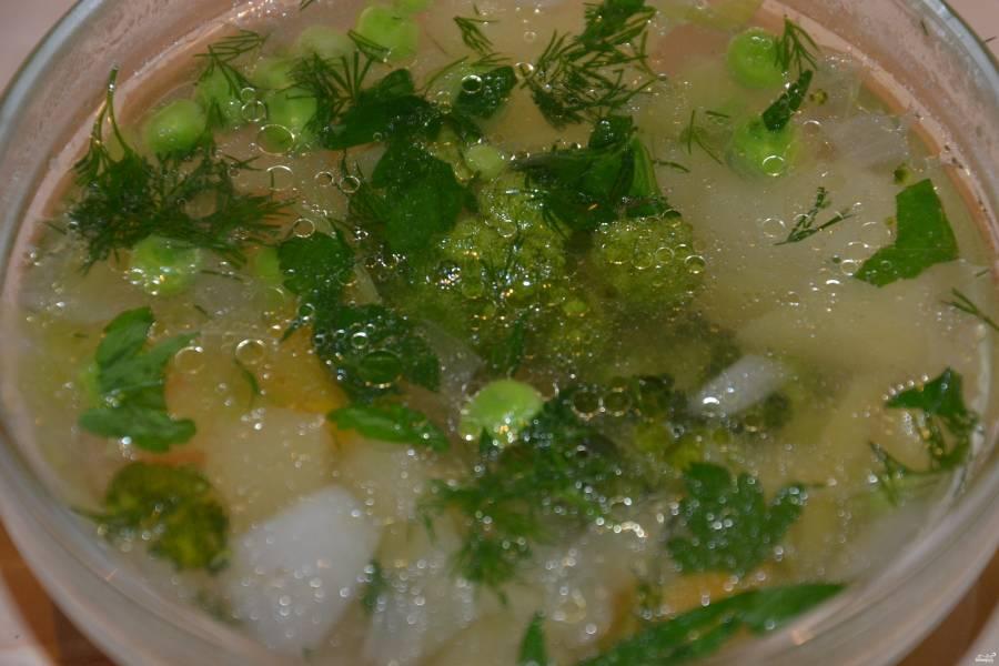 Постный суп из брокколи