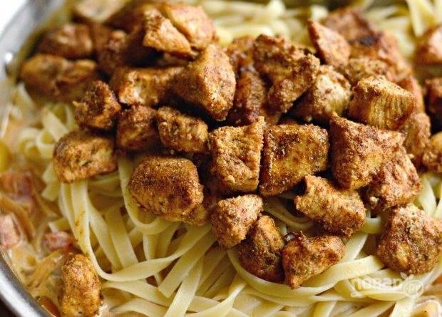 Каджунская паста с курицей - пошаговый рецепт