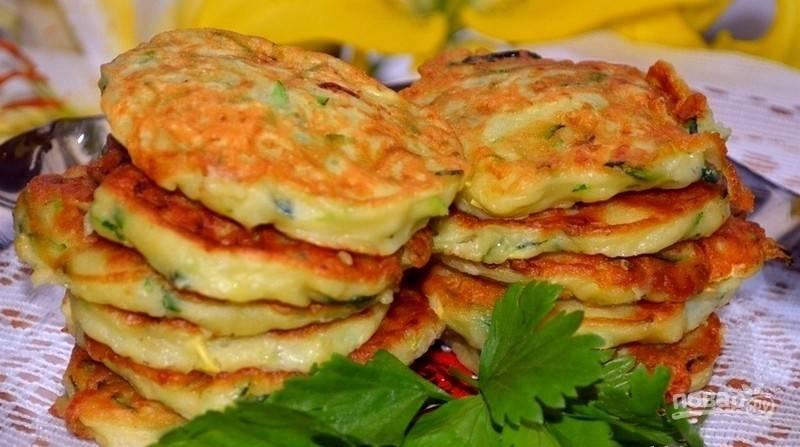 Оладья из кабачков сладкие пошаговый рецепт с фото
