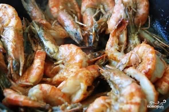 Креветки под коньяком - пошаговый рецепт