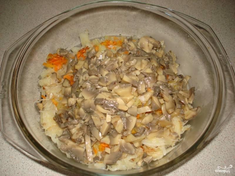 Капуста, тушеная с грибами - пошаговый рецепт