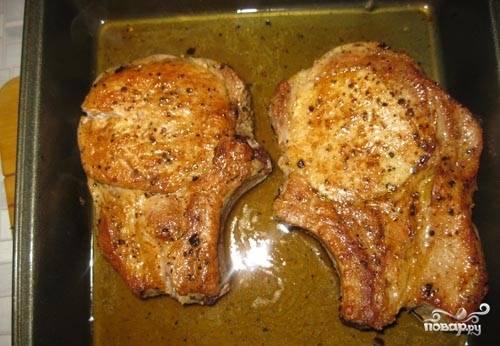 Котлета на косточке в духовке - пошаговый рецепт