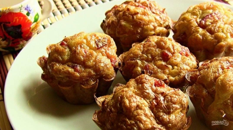 Кексы с капустой и колбасой - пошаговый рецепт с фото на