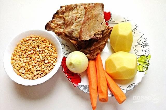 Суп гороховый с ребрами - пошаговый рецепт