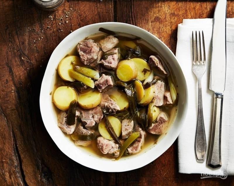 картофель по-французски с мясом и с грибами в духовке рецепт с фото