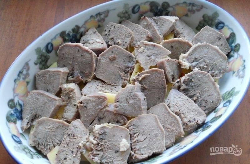 Язык свиной, запеченный в духовке - пошаговый рецепт