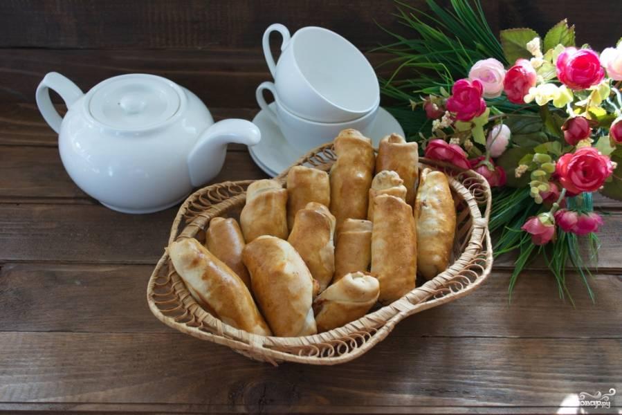 Пирожки с сосисками и сыром