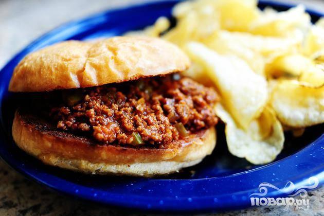 Американский бутерброд с говядиной - пошаговый рецепт