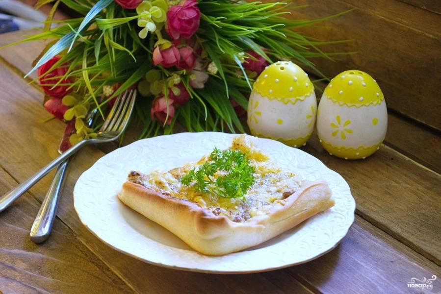 Пирог с тунцом и луком-порей