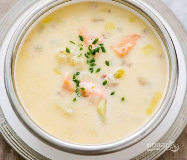 Суп из лосося со сливками