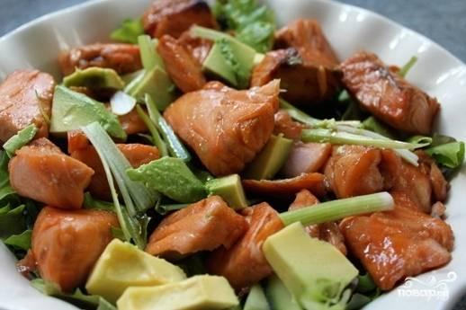 Салаты с лососем