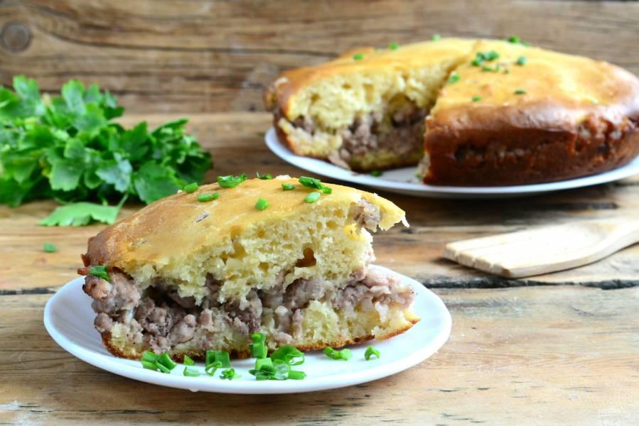 Пирог с мясом (легче не бывает!)