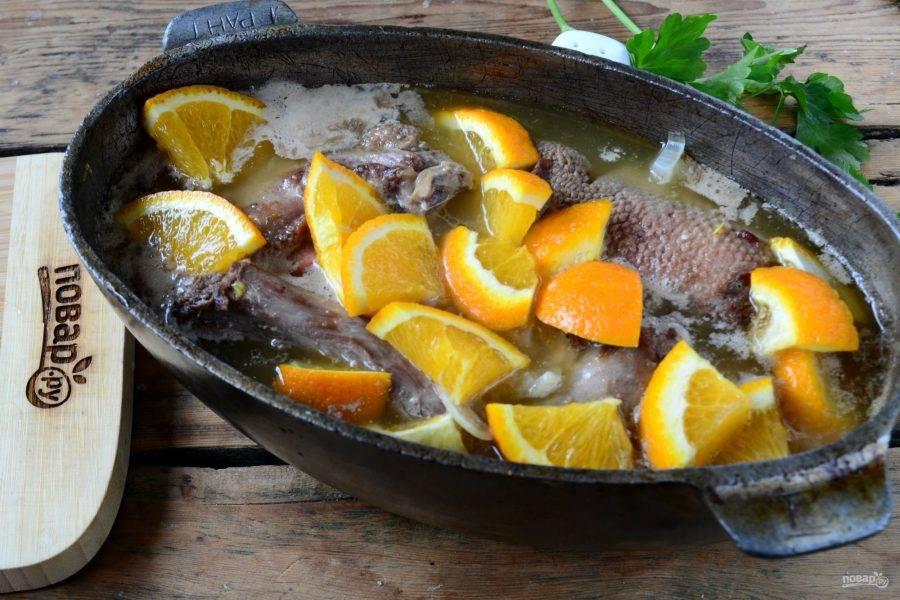 Утка, тушенная с апельсинами - пошаговый рецепт с фото на