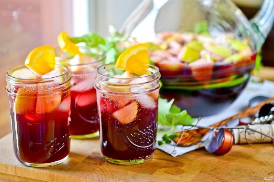 Сангрия с красным вином - пошаговый рецепт с фото на