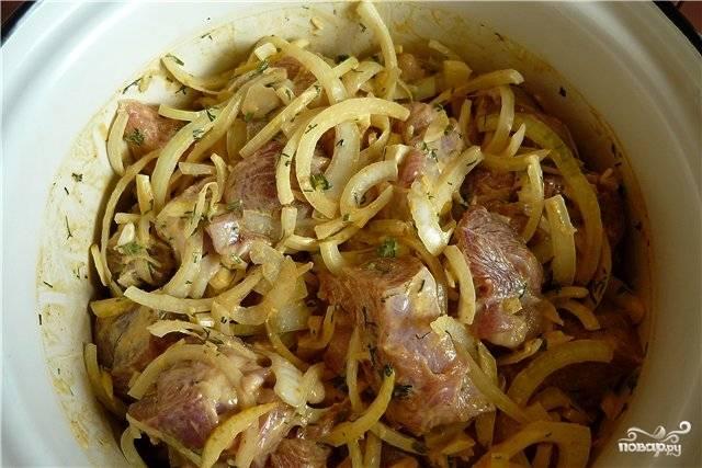 Шашлык в духовке в банке - пошаговый рецепт