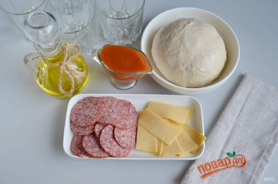 Перевернутая пицца в стакане - пошаговый рецепт