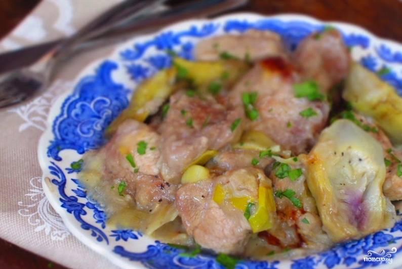 Свинина с луком-пореем - пошаговый рецепт