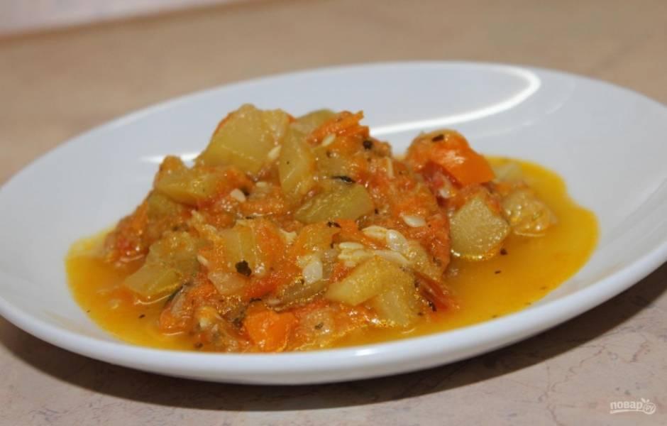 Овощное рагу из кабачков - пошаговый рецепт
