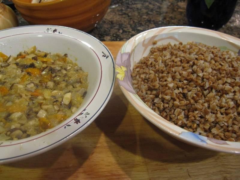 Патиссоны, фаршированные гречкой - пошаговый рецепт