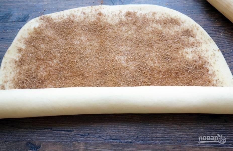 Дрожжевое тесто с корицей - пошаговый рецепт с фото на