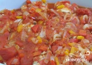Курица в соусе из помидоров и перцев - фото шаг 5