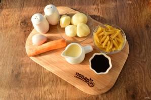 Куриный суп-пюре с макаронами - фото шаг 2