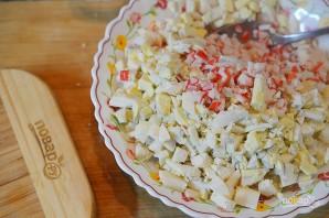 Крабовый салат 8 марта - фото шаг 5