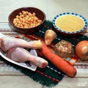 Кускус с курицей и овощами - фото шаг 1