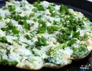 Омлет с брокколи на сковороде - фото шаг 4
