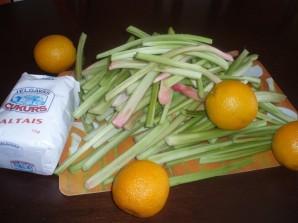 Варенье из ревеня с апельсином - фото шаг 1