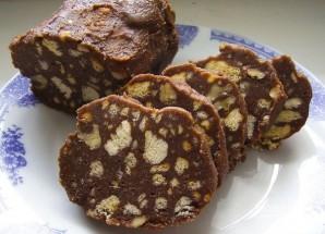 Шоколадная колбаска - фото шаг 5