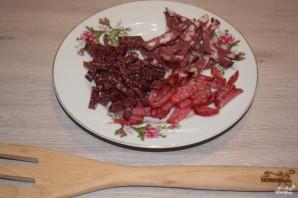 Солянка с курицей и колбасой - фото шаг 2